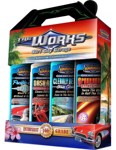 SURF CITY GARAGE The Works - Zestaw do auto-detailingu / 4 x 237ml