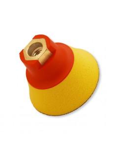 FLEXIPADS Talerz mocujący 75mm z rzepem, gwint M14, Soft-żółty