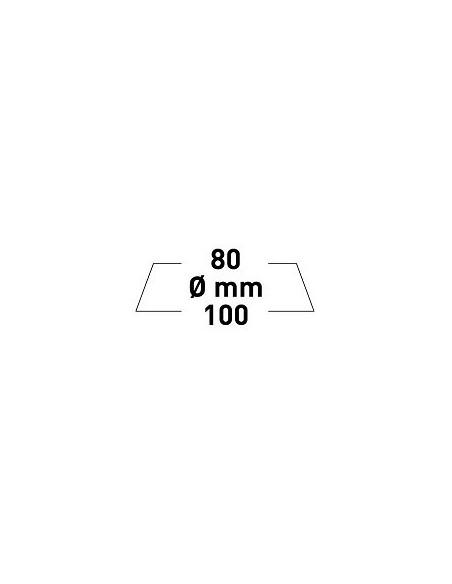 Rupes Big Foot pad z mikrofibry FINE 80/100mm