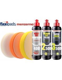 MENZERNA Zestaw FG500 IP2000 SF4000 + Gąbki Polerskie