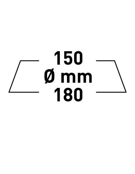 RUPES BIG FOOT GĄBKA FINE 150/180 MM ŻÓŁTA