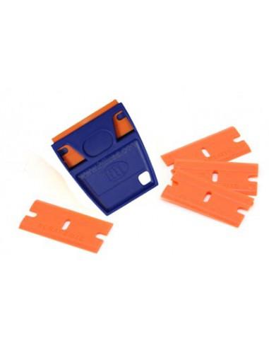 EZ Grip Plastic Razor Blade Holder & 5 Blades