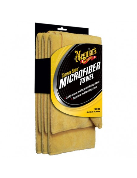 MEGUIAR'S Supreme Shine Microfiber Towels 3-pack