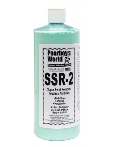 POORBOY'S WORLD SSR 2 Medium Abrasive Swirl Remover 946 ml