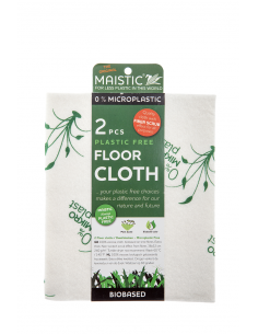 MAISTIC Micro Plastic Free FLOOR Cloth (Viscose) Extra thickness printed 2 units per pack